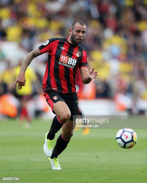 Steve Cook of AFC Bournemouth in action during the Premier League match between AFC Bournemouth and Watford at Vitality Stadium on August 19 2017 in...