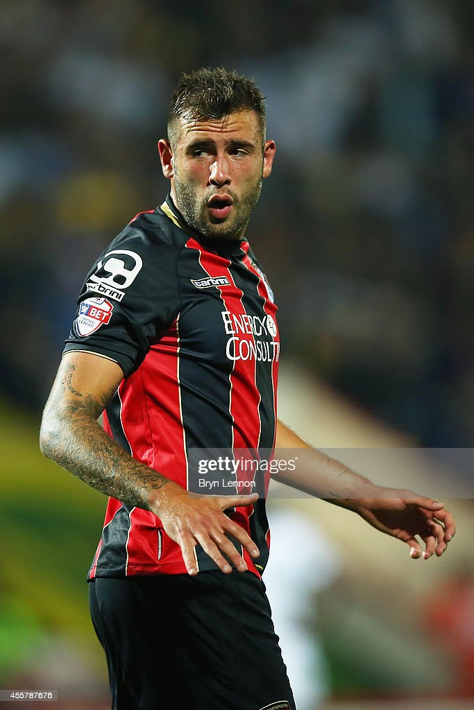 Steve Cook of AFC Bournemouth looks on during the Sky Bet Championship match between AFC Bournemouth and Leeds United at Goldsands Stadium on September 16, 2014 in Bournemouth, England.