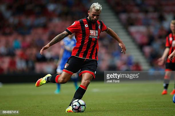 Steve Cook of Bournemouth during a preseason match between Bournemouth and Cardiff City at Goldsands Stadium on July 30 2016 in Bournemouth England