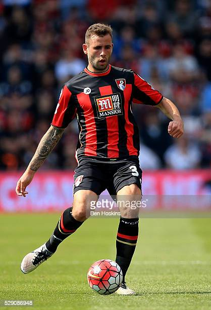 Steve Cook of Bournemouth in action during the Barclays Premier League match between AFC Bournemouth and West Bromwich Albion at the Vitality Stadium...