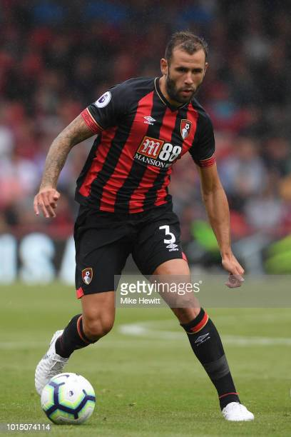 Steve Cook of Bournemouth in action during the Premier League match between AFC Bournemouth and Cardiff City at Vitality Stadium on August 11 2018 in...