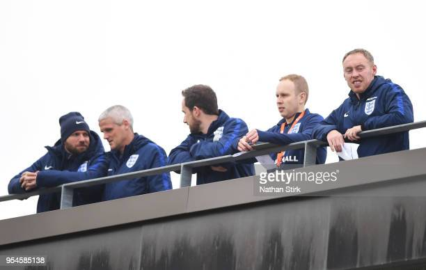 Steve Cooper Head coach of England U 17's looks on during the UEFA European Under17 Championship Group A match between Italy and Switzerland at St...