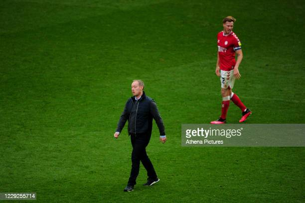 Steve Cooper Head Coach of Swansea City at full time during the Sky Bet Championship match between Bristol City and Swansea City at Ashton Gate on...