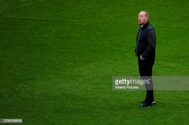 Steve Cooper Head Coach of Swansea City during the Sky Bet Championship match between Bristol City and Swansea City at Ashton Gate on October 24 2020...