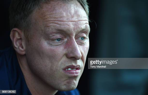 Steve Cooper Manager of England reacts during the UEFA European Under17 Championship Between Norway and England at Pirelli Stadium on May 13 2018 in...