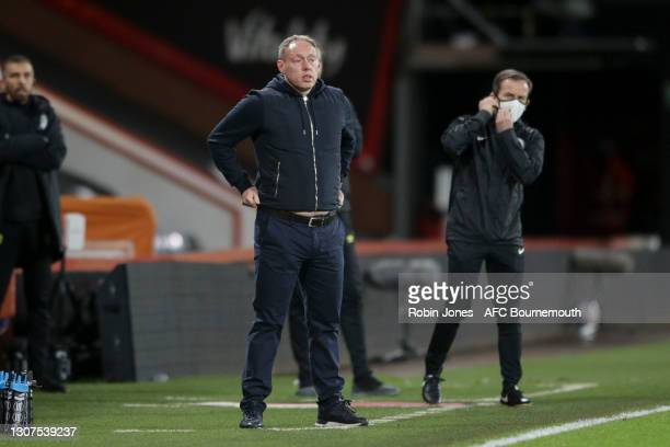 Steve Cooper of Swansea City during the Sky Bet Championship match between AFC Bournemouth and Swansea City at Vitality Stadium on March 16, 2021 in...