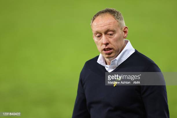 Steve Cooper the head coach / manager of Swansea City during the Sky Bet Championship match between Swansea City and Cardiff City at Liberty Stadium...