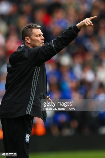 Steve Cotterill assistant head coach / manager of Birmingham City during the Sky Bet Championship match between Birmingham City and Huddersfield Town...