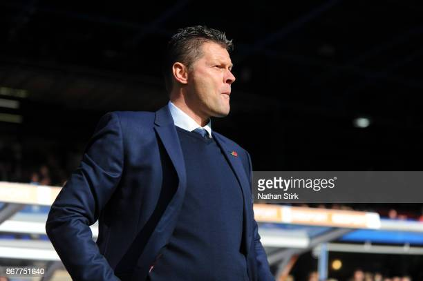 Steve Cotterill manager of Birmingham City looks on during the Sky Bet Championship match between Birmingham City and Aston Villa at St Andrews on...
