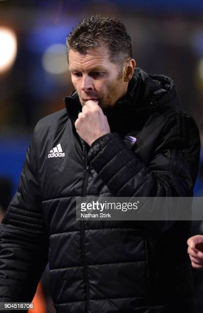 Steve Cotterill manager of Birmingham City walks back to the tunnel after the Sky Bet Championship match between Birmingham City and Derby County at...