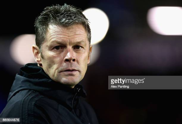 Steve Cotterill Manager of Birmingham looks on during the Sky Bet Championship match between Birmingham City and Wolverhampton Wanderers at St...