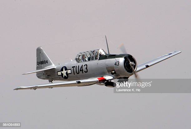 Steve Cowell pilot restored the WWII Tuskegee Airmen AT–6 Texan Double Vee airplane will be at the Van Nuys AirshowRockin Airfest 2006 The...
