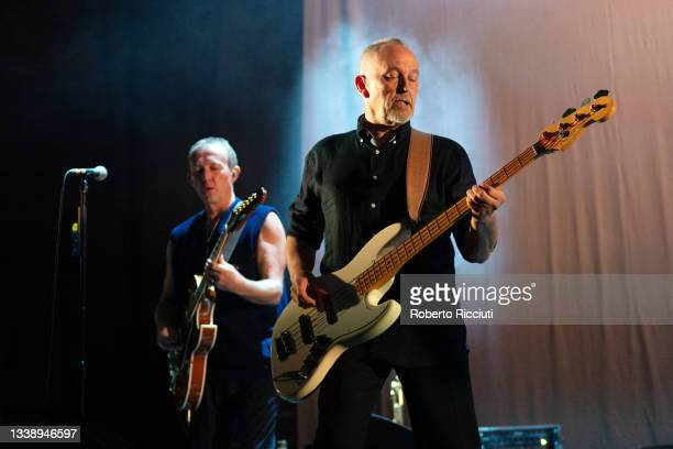 Steve Cradock and Horace Panter of The Specials perform on stage at Usher Hall on September 07, 2021 in Edinburgh, Scotland.