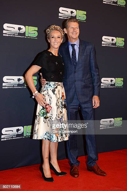 Steve Cram and partner Allison Curbishley attend the BBC Sports Personality of the Year award at Odyssey Arena on December 20 2015 in Belfast...