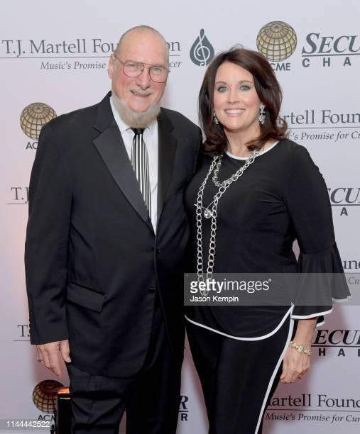 Steve Cropper and Betty Cropper attend The TJ Martell Foundation Nashville Best Cellars 2019 at the Loews Vanderbilt Hotel on April 22 2019 in...