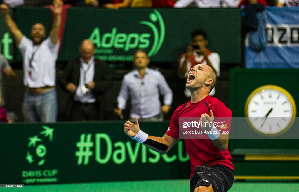 Belgium v Argentina Davis Cup Semi Final 2015 - Day 3 : News Photo
