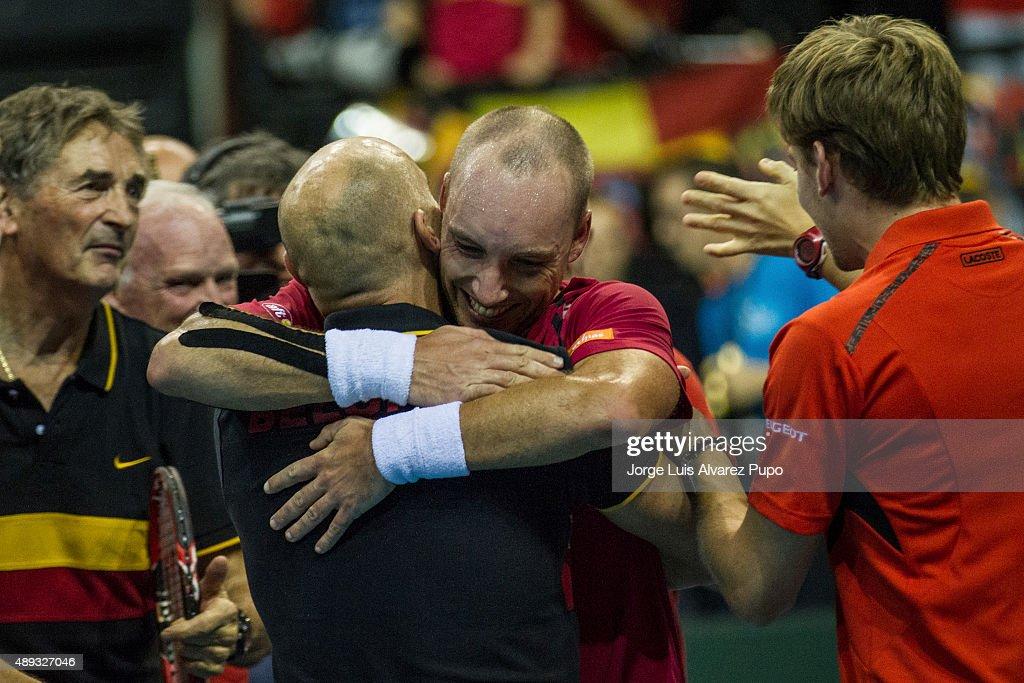 Belgium v Argentina Davis Cup Semi Final 2015 - Day 3 : News Photo