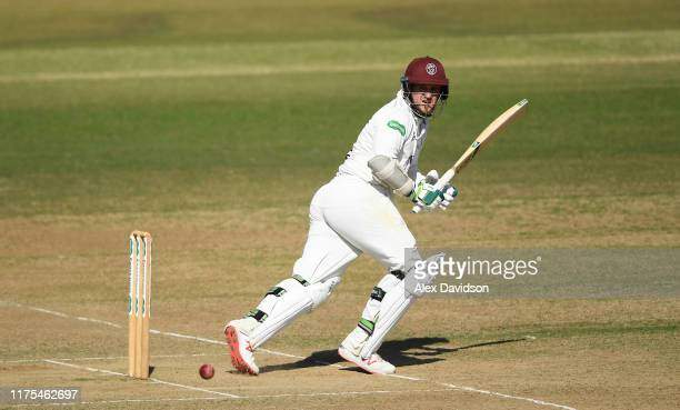 Steve Davies of Somerset bats during Day Three of The Specsavers Division One County Championship match between Hampshire and Somerset at Ageas Bowl...