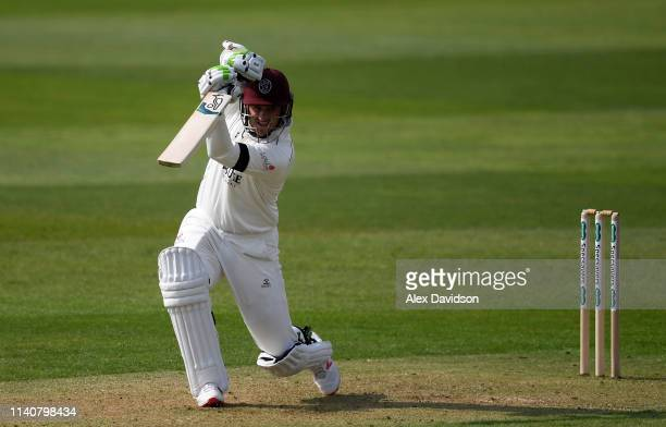 Steve Davies of Somerset in action during Day 2 of the Specsavers County Championship match between Somerset and Kent at The Cooper Associates County...