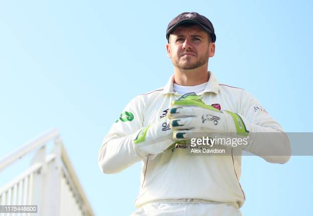 Steve Davies of Somerset takes to the field during Day Three of The Specsavers Division One County Championship match between Hampshire and Somerset...