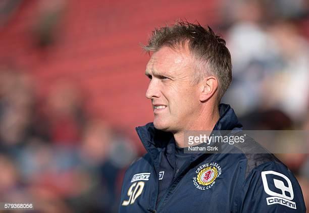 Steve Davis manager of Crewe Alexandra during the PreSeason Friendly between Crewe Alexandra and Wolverhampton Wanderers at The Alexandra Stadium on...