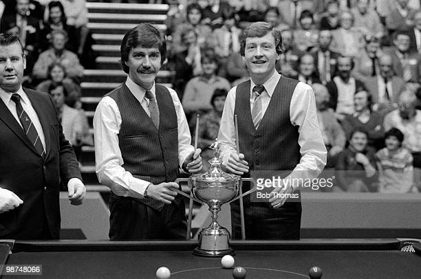 Steve Davis of Great Britain and Cliff Thorburn of Canada prior to the World Professional Snooker Final at the Crucible Theatre in Sheffield 2nd May...