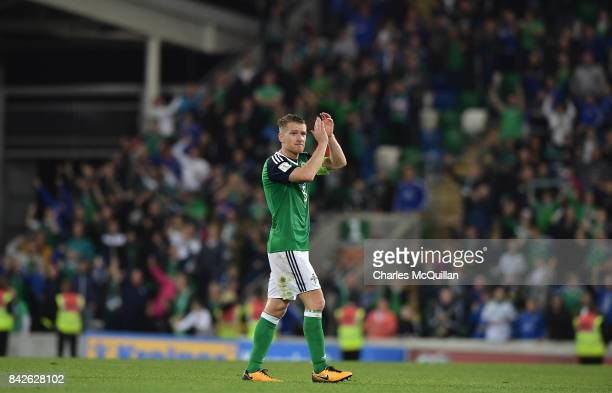 Steve Davis of Northern Ireland after the FIFA 2018 World Cup Qualifier between Northern Ireland and Czech Republic at Windsor Park on September 4...