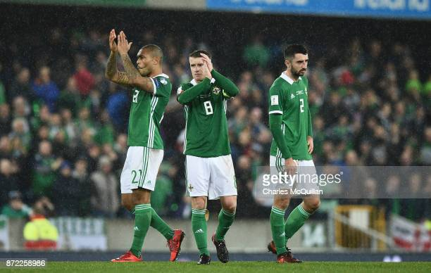 Steve Davis of Northern Ireland during the FIFA 2018 World Cup Qualifier PlayOff first leg between Northern Ireland and Switzerland at Windsor Park...