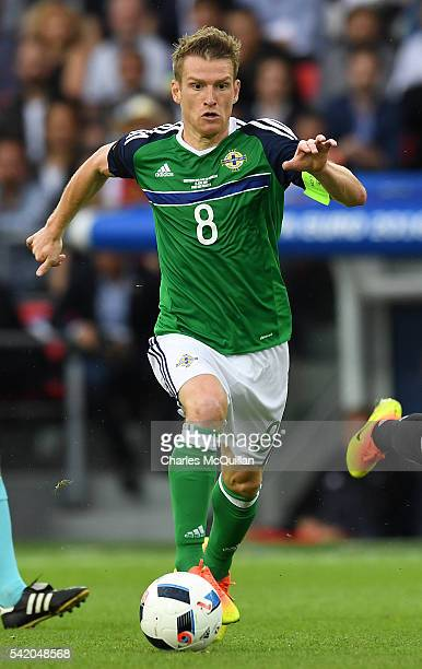 Steve Davis of Northern Ireland during the UEFA EURO 2016 Group C match between Northern Ireland and Germany at Parc des Princes on June 21 2016 in...