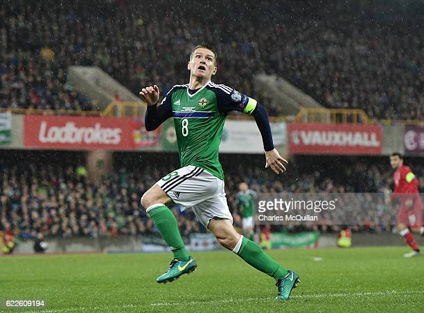 Steve Davis of Northern Ireland pictured during the FIFA 2018 World Cup Qualifier between Northern Ireland and Azerbaijan at Windsor Park on November...