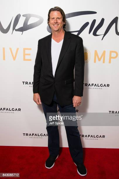 Steve Di Stanislao arrives for the David Gilmour 'Live At Pompeii' premiere screening at Vue West End on September 5 2017 in London England