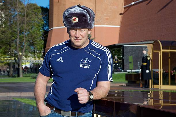 Steve Diamond Coach Of Russian Rugby Team Poses At Red Square On October 31