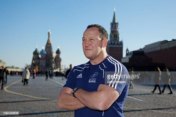 Steve Diamond Coach Of Russian Rugby Team Poses At Red Square On October 31 2010 In