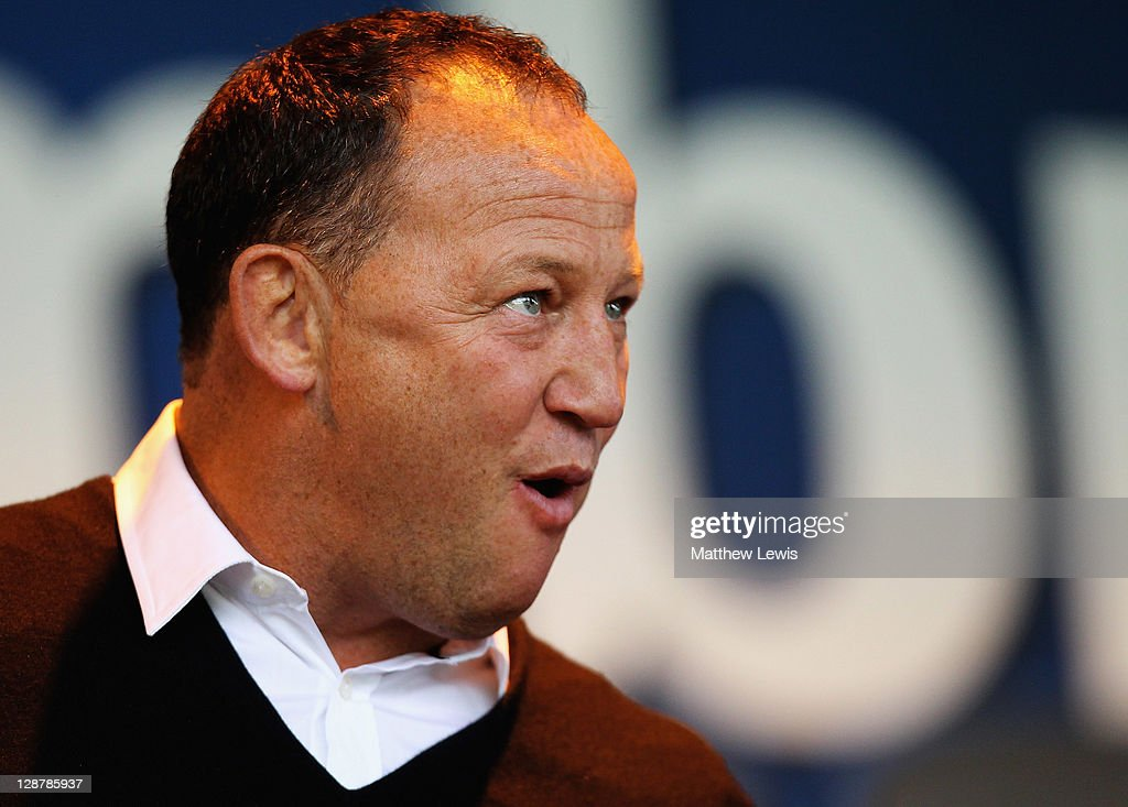 Steve Diamond, Director of Sport at Sale Sharks looks on during the AVIVA Premiership match between Sale Sharks and Gloucester at Edgeley Park on October 8, 2011 in Stockport, England.