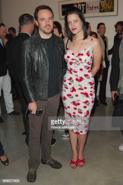Steve Diet Goedde and Kimberly Kane attend JOHN WATERS REAR PROJECTION AT GAGOSIAN GALLERY BEVERLY HILLS at Gagosian Gallery on April 11 2009 in...