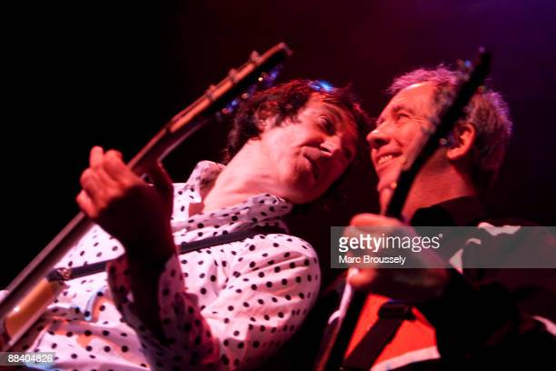 Steve Diggle and Pete Shelley of The Buzzcocks perform on stage at The Forum on June 10, 2009 in London, England.