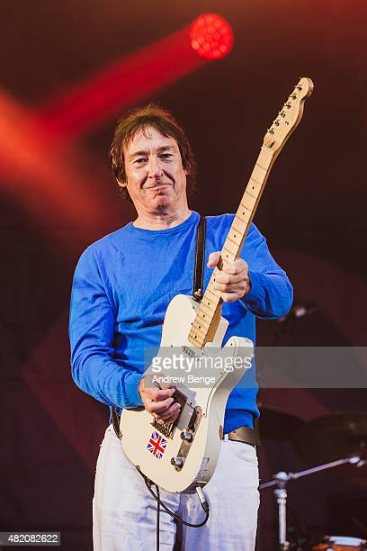 Steve Diggle of Buzzcocks performs on the Main Stage at Tramlines Festival on July 26 2015 in Sheffield United Kingdom