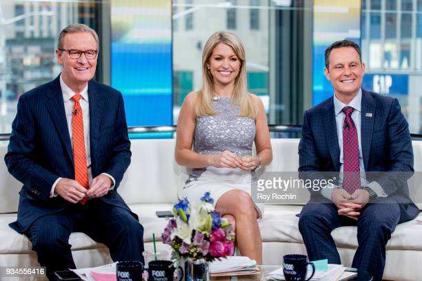 Steve Doocy Ainsley Earhardt and Brian Kilmeade of Fox Friends discuss Maroln Bundo's a day in the life of The Vice President with Charlotte and...