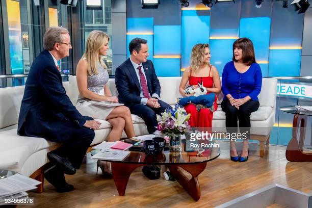 Steve Doocy Ainsley Earhardt Brian Kilmeade Charlotte Pence Karen Pence and the Pence family Bunny Maroln Bundo visit Fox Friends to discuss 'Maroln...