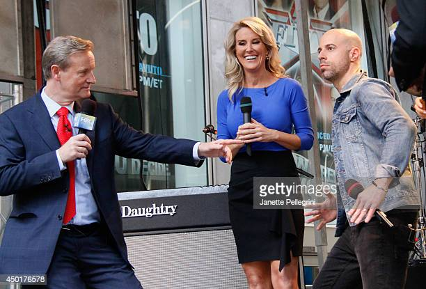 Steve Doocy Heather Nauert and Chris Daughtry attend FOX Friends All American Concert Series outside of FOX Studios on June 6 2014 in New York City
