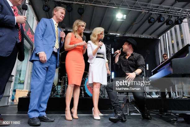 Steve Doocy Jillian Mele Ainsley Earhardt Janice Dean and Gavin Degraw attend Fox Friends' AllAmerican Summer Concert Series at FOX Studios on June...