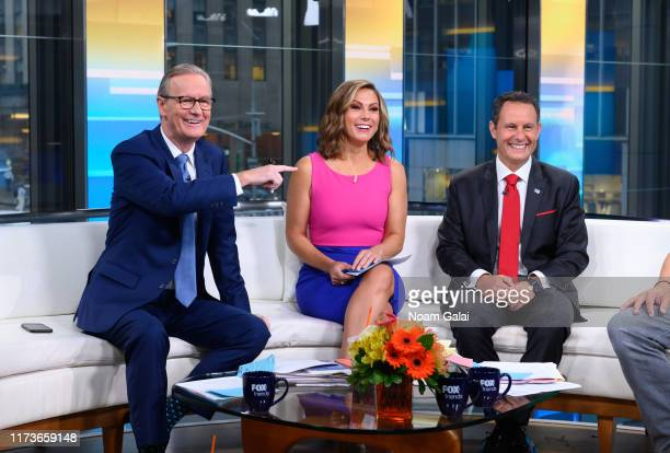 Steve Doocy Lisa Boothe and Brian Kilmeade are seen on the set of FOX Friends at Fox News Channel Studios on September 10 2019 in New York City