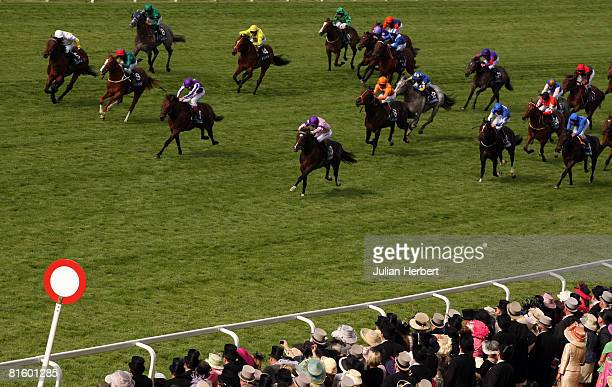 Steve Drowne and Flashing Papers land The Windsor Castle Stakes Race run at Ascot Racecourse on June 17 in Ascot England Today was the first day of...