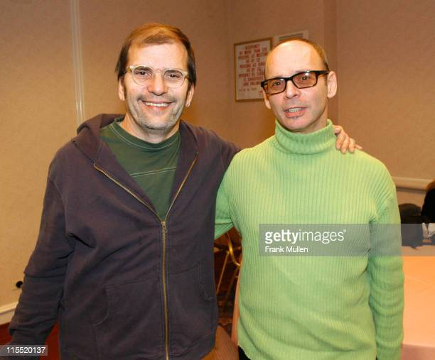 Steve Earle and Wayne Kramer during CMJ Music Marathon 2003 Day 3 Steve Earle and Wayne Kramer at Hilton Hotel in New York New York United States