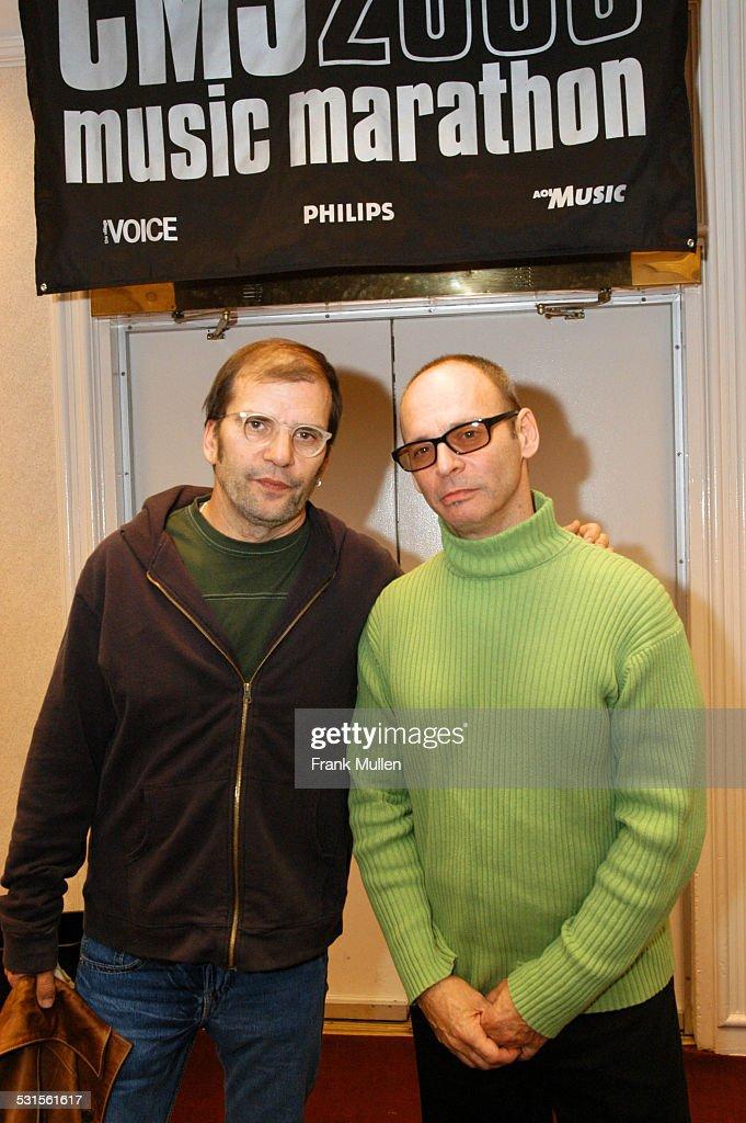Steve Earle and Wayne Kramer during CMJ Music Marathon 2003, Day 3 - Steve Earle and Wayne Kramer at Hilton Hotel in New York, New York, United States.