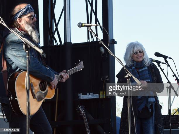 Steve Earle is joined by Emmylou Harris during the 9th Annual 30A Songwriters Festival day 2 on January 13 2018 in South Walton Beach Florida