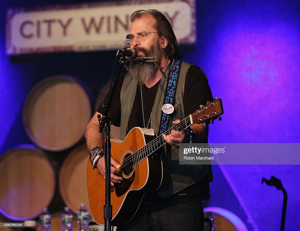 Steve Earle of Colvin & Earle preforms during Sirius Presents Steve Earle & Shawn Colvin at City Winery on June 10, 2016 in New York City.