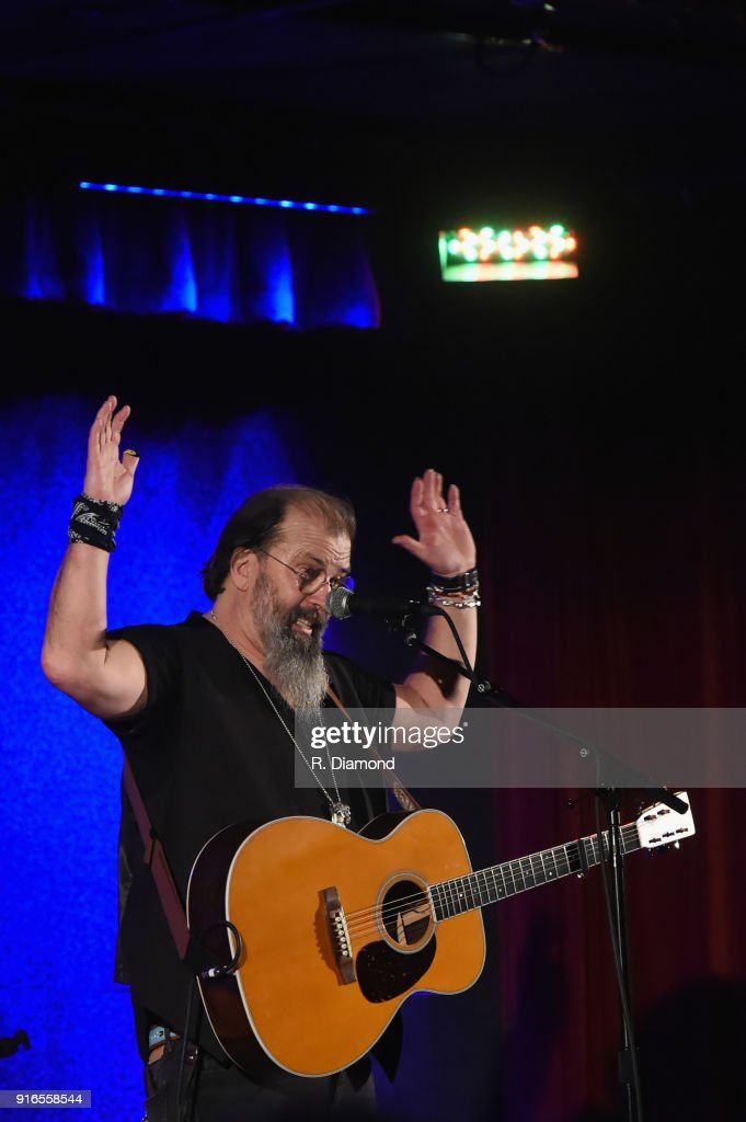 Steve Earle performs during his Annual Winter Residency at City Winery on February 9, 2018 in Atlanta, Georgia.