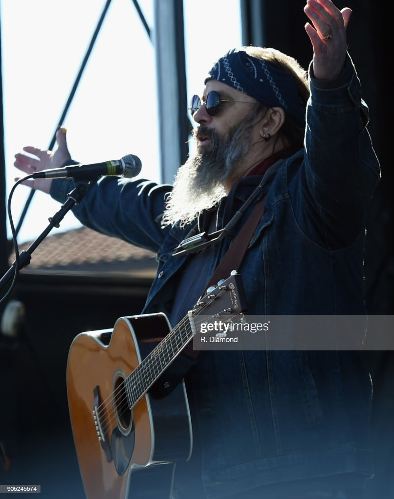 Steve Earle performs during the 9th Annual 30A Songwriters Festival day 2 on January 13, 2018 in South Walton Beach, Florida.