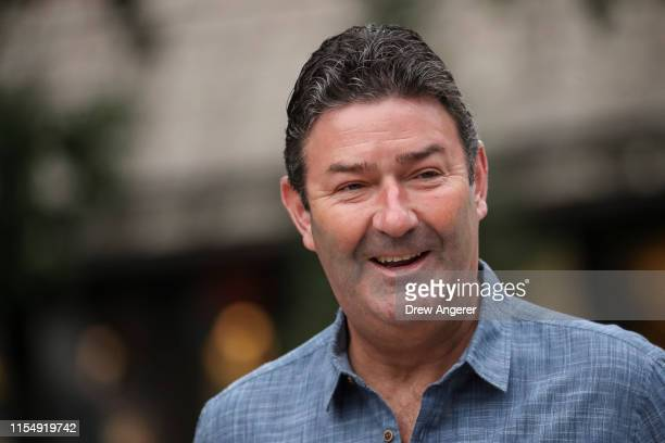 Steve Easterbrook chief executive officer of McDonald's attends the annual Allen Company Sun Valley Conference July 10 2019 in Sun Valley Idaho Every...